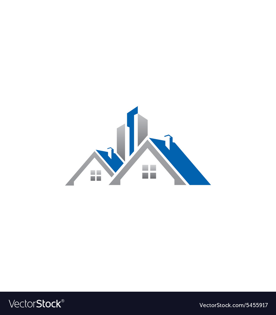 House Realty Building Construction Roof Logo Vector Image