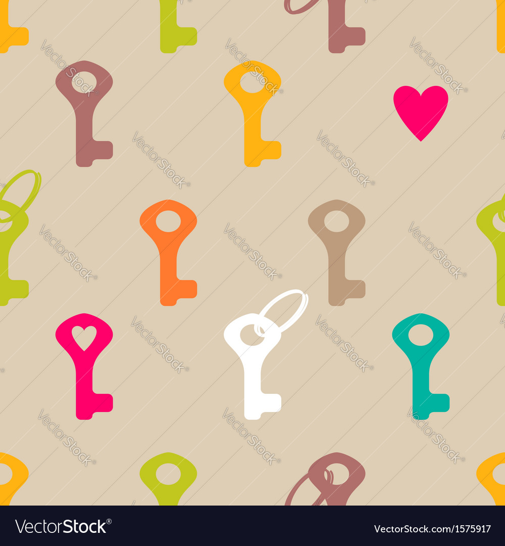 Key pattern vector image