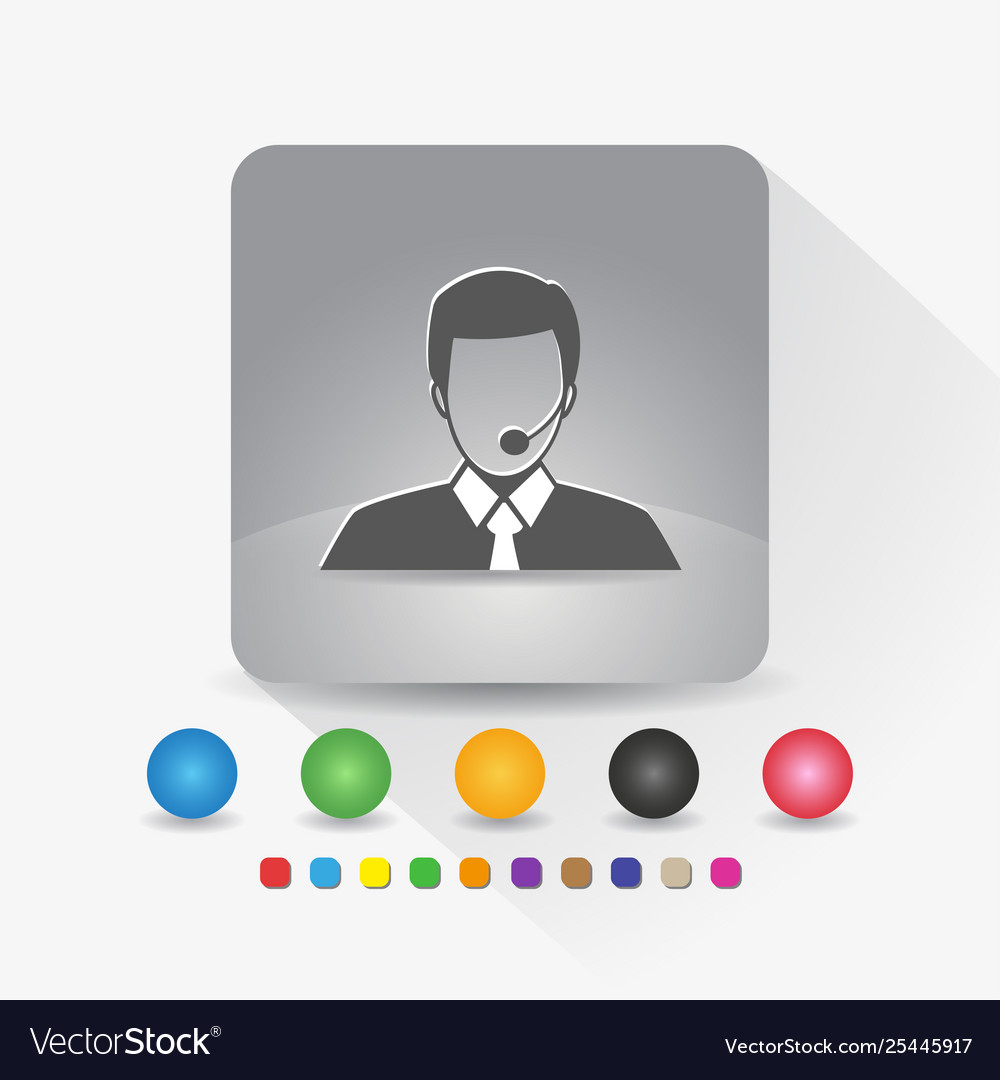 Male customer service icon sign symbol app in