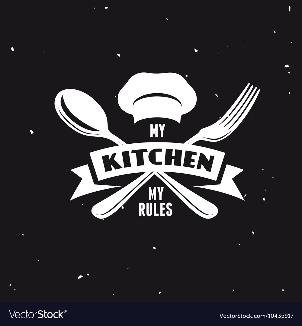 My kitchen rules lettering poster vintage