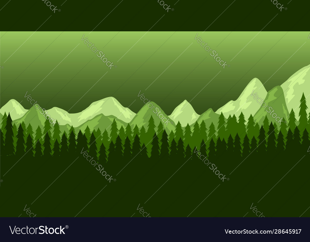 Poster template with wild mountains landscape