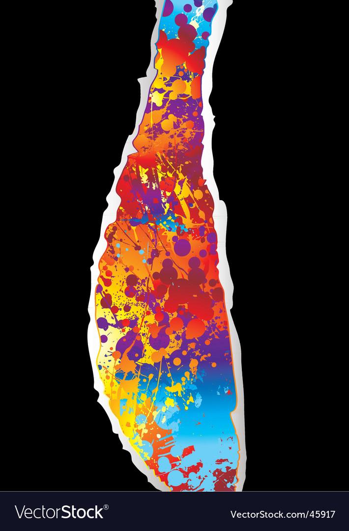 Rainbow grunge background vector image