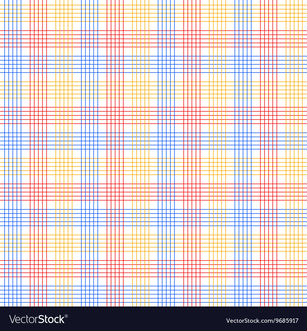 Red blue and yellow checkered colorful seamless