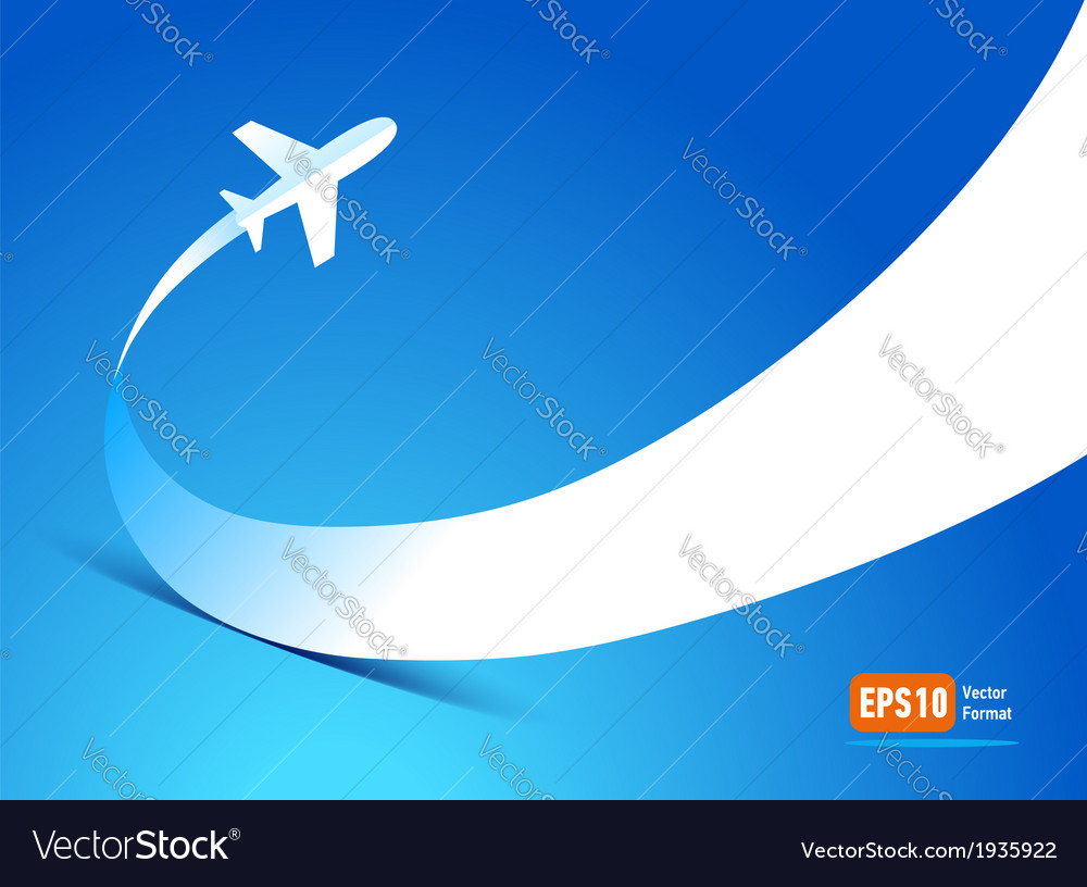 Airplane flight tickets air fly travel takeoff vector image