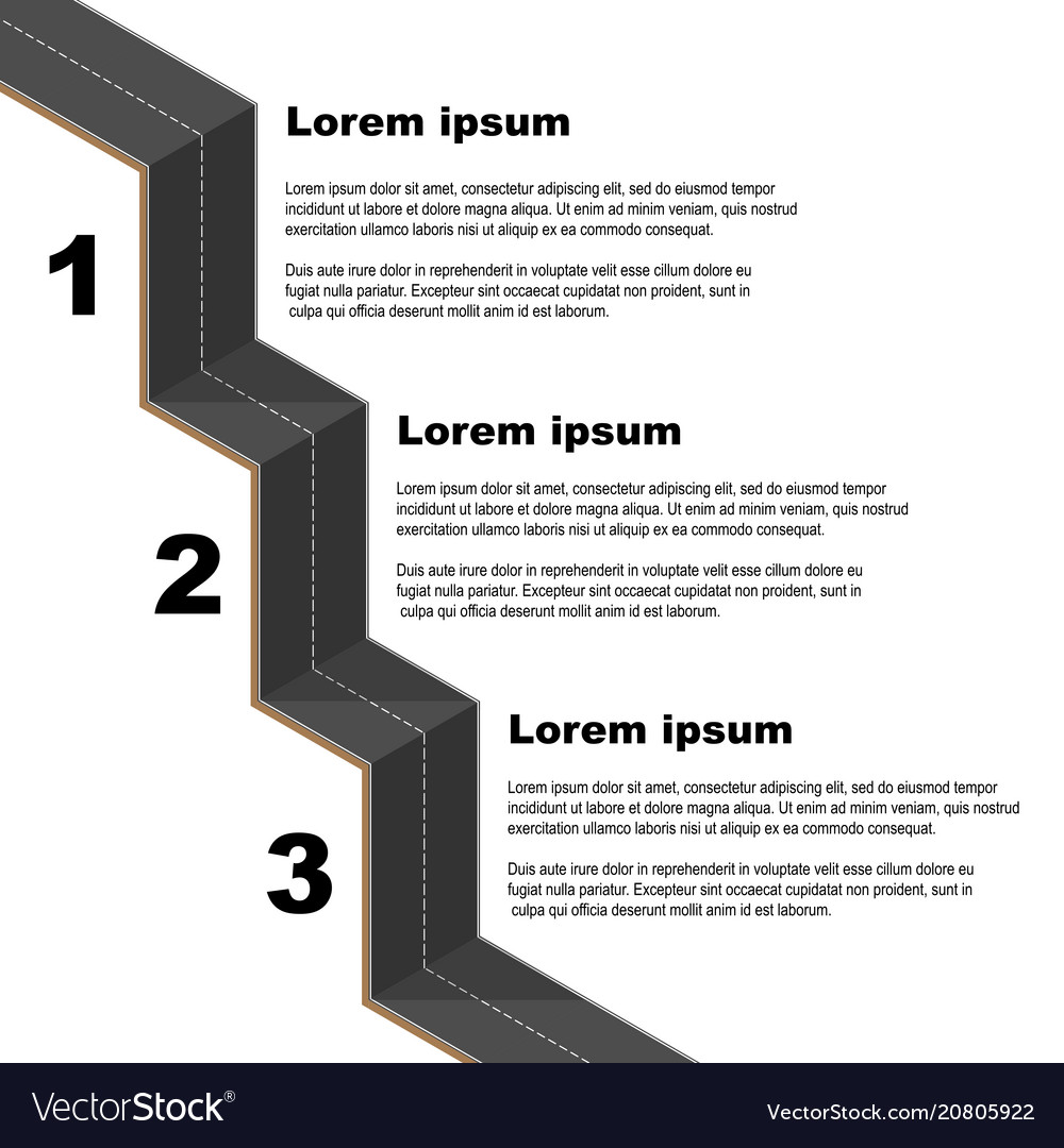 Black road infographic