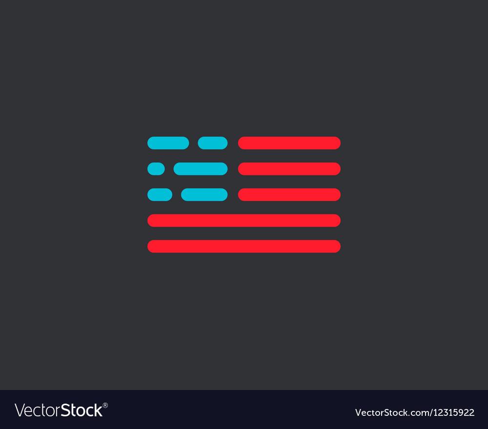 Code american flag logo design USA patriot tech