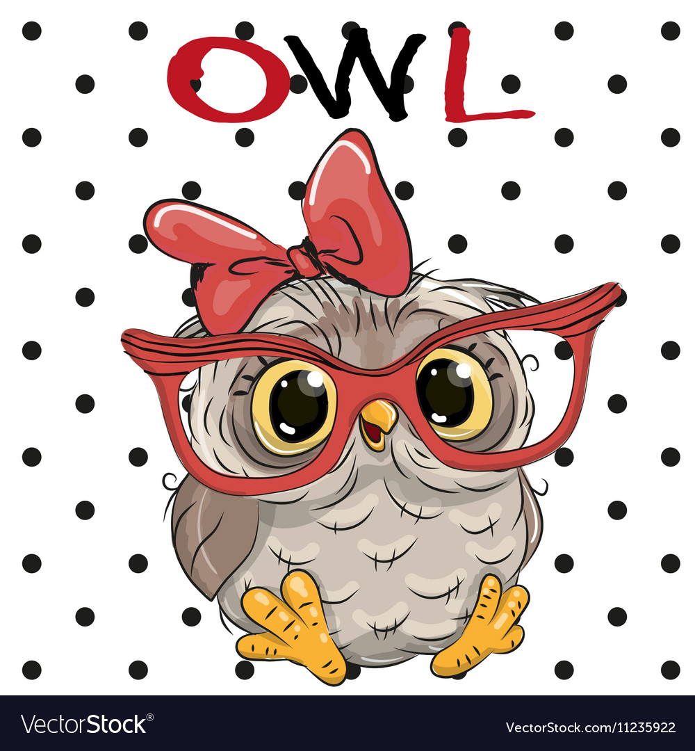 Image of: Vector Cute Owl With Glasses Vector Image Vectorstock Cute Owl With Glasses Royalty Free Vector Image
