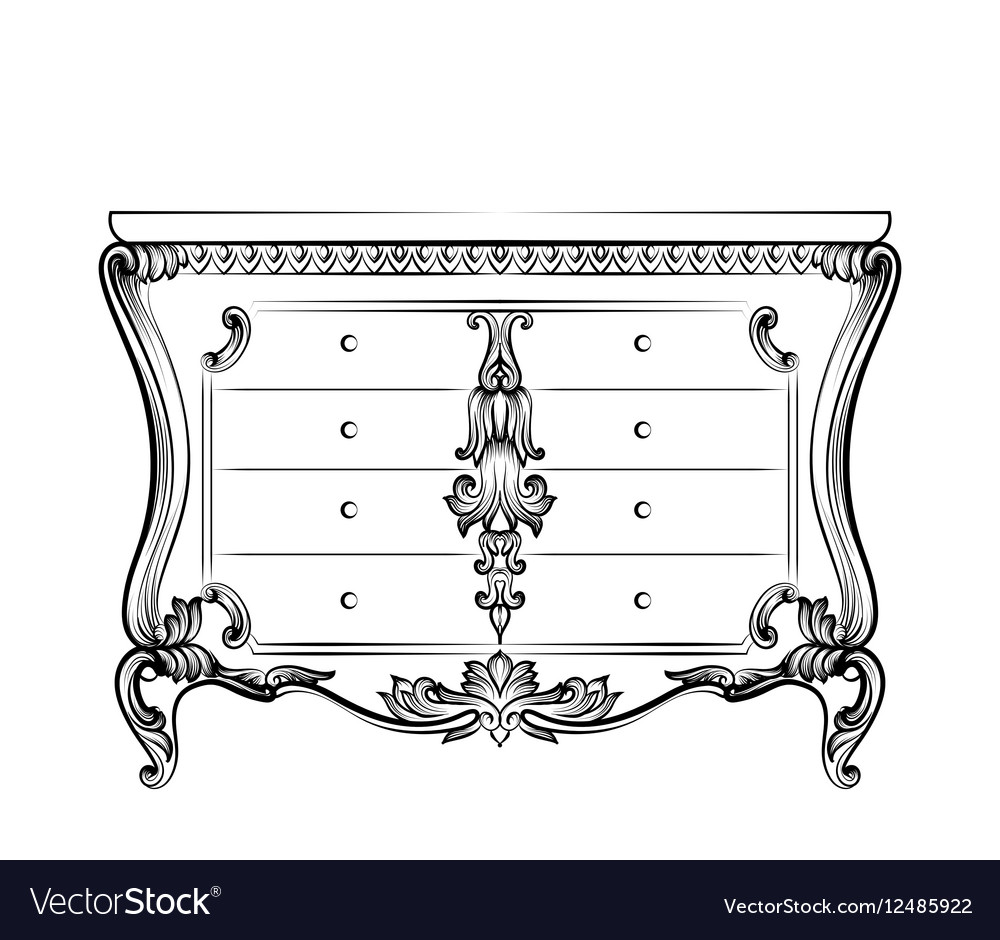 Exquisite Fabulous Imperial Baroque chest table