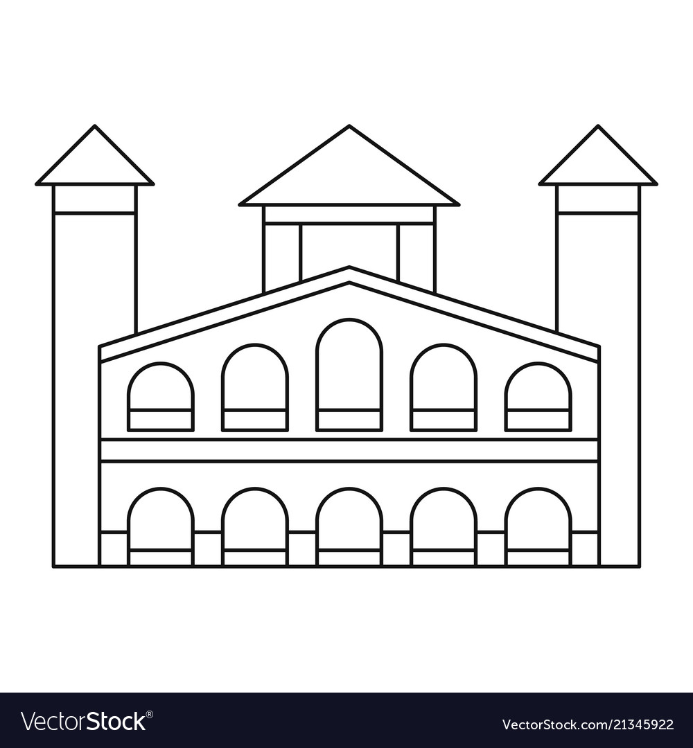 Historical building icon outline style
