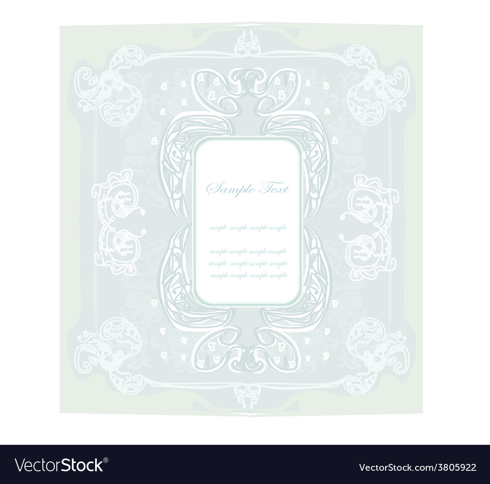 Invitation vintage card vector image