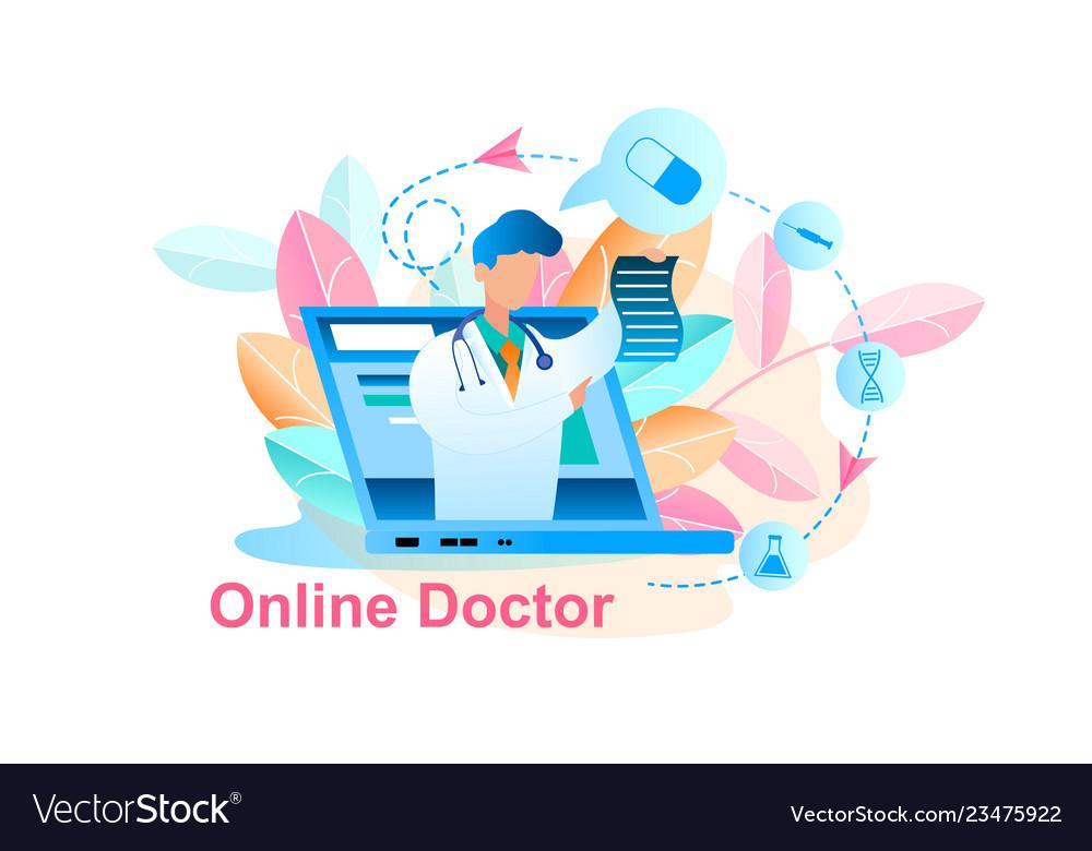 Online doctor treatment consultation
