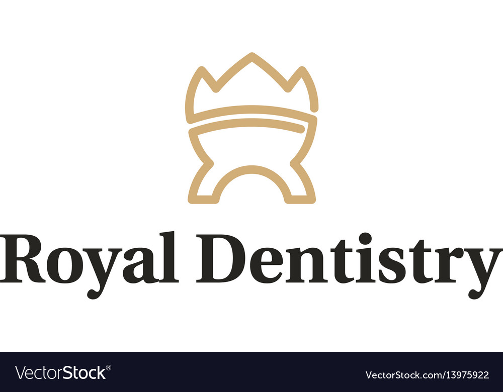 Royal dentistry logo vector image