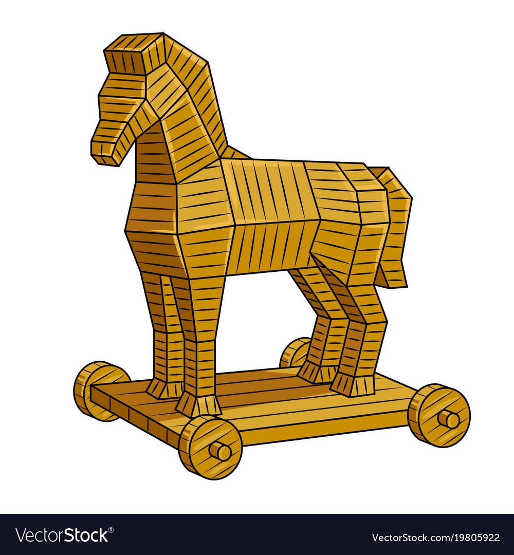 Trojan Horse Pop Art Royalty Free Vector Image