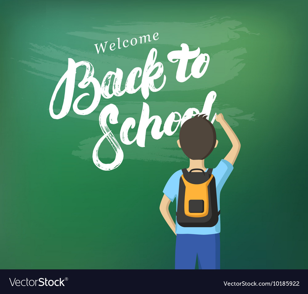 Welcome Back to School hand written lettering