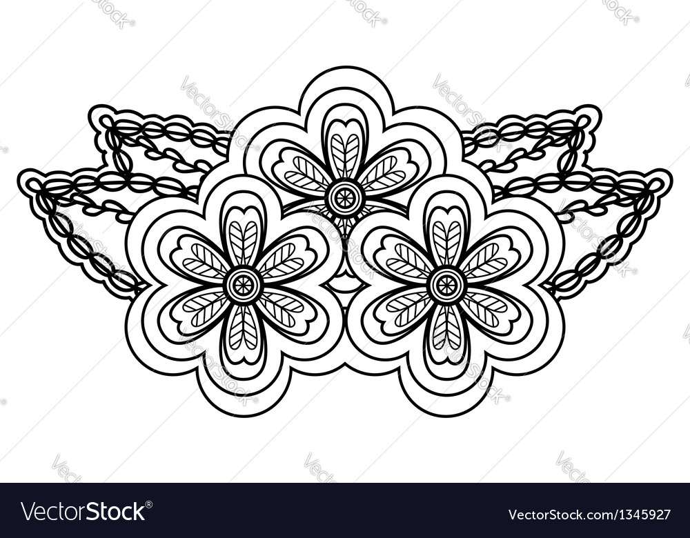 Abstract black and white floral arrangement vector image