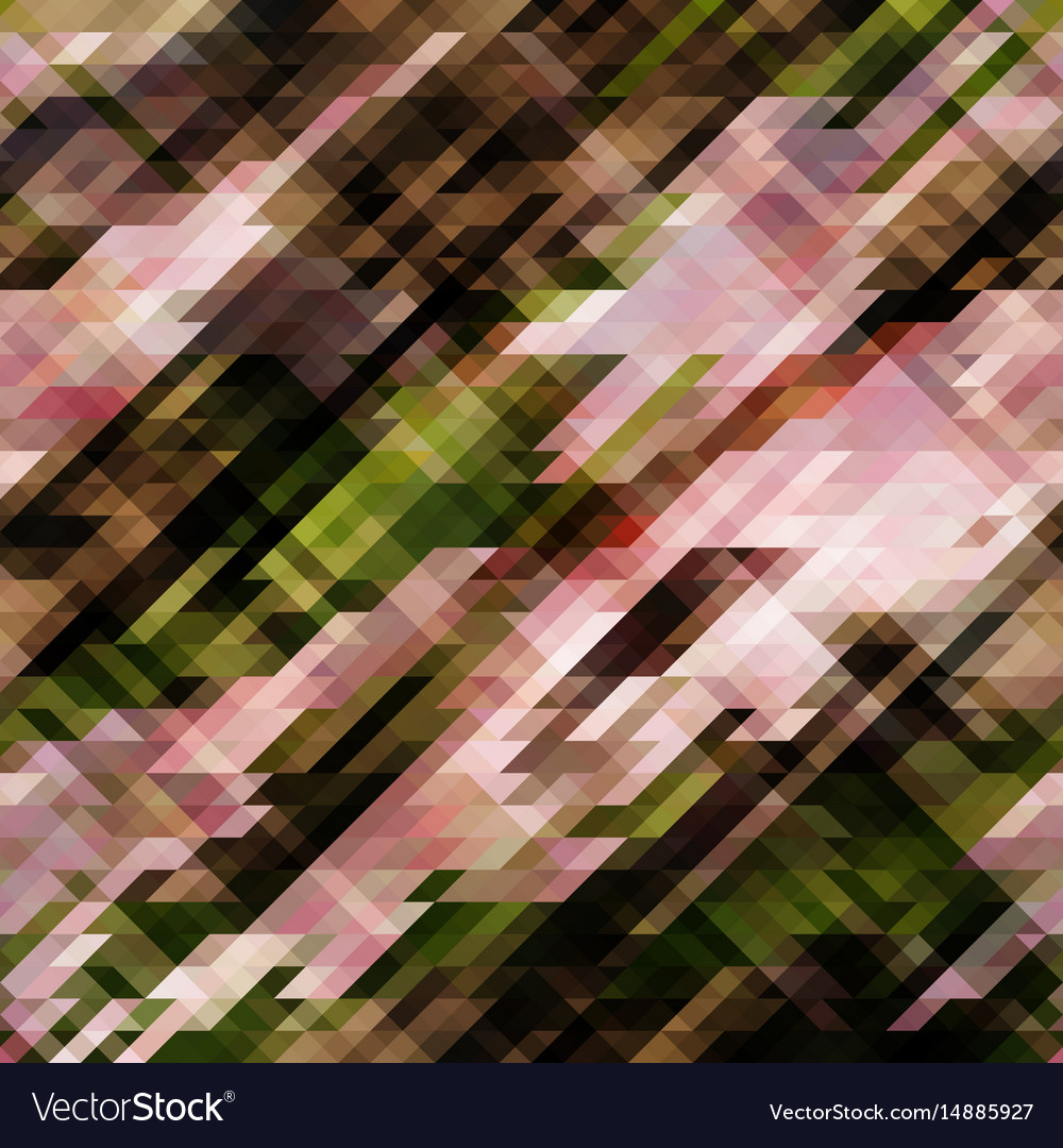 Abstract pixel background from triangles