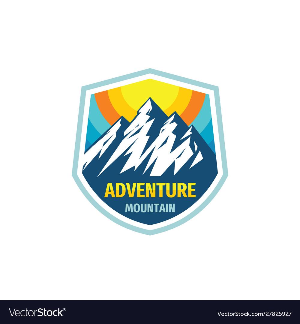 Adventure mountain - concept badge design