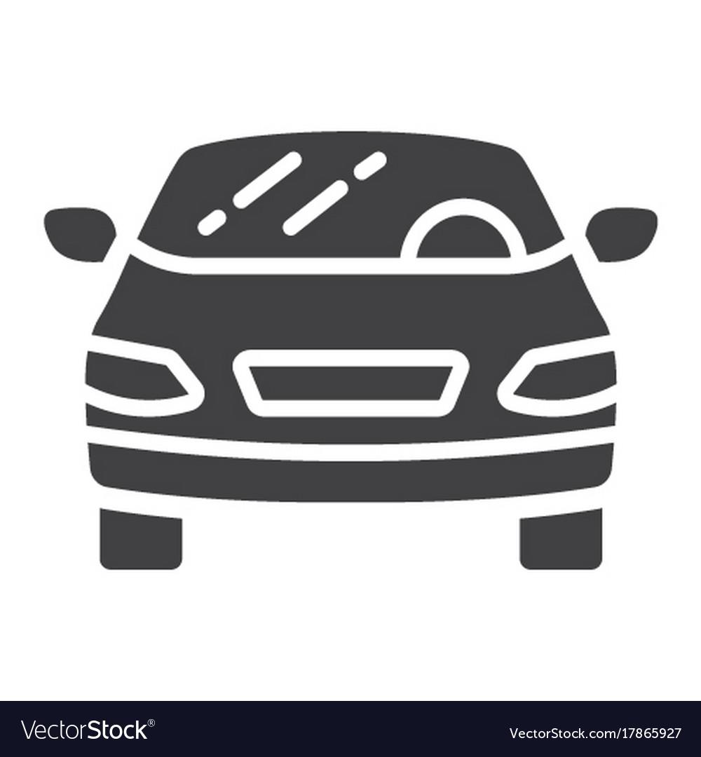 Car glyph icon transport and automobile sedan