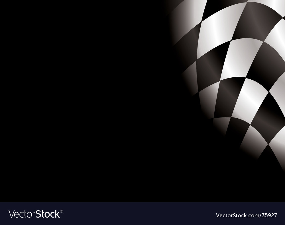 Checkered blank vector image