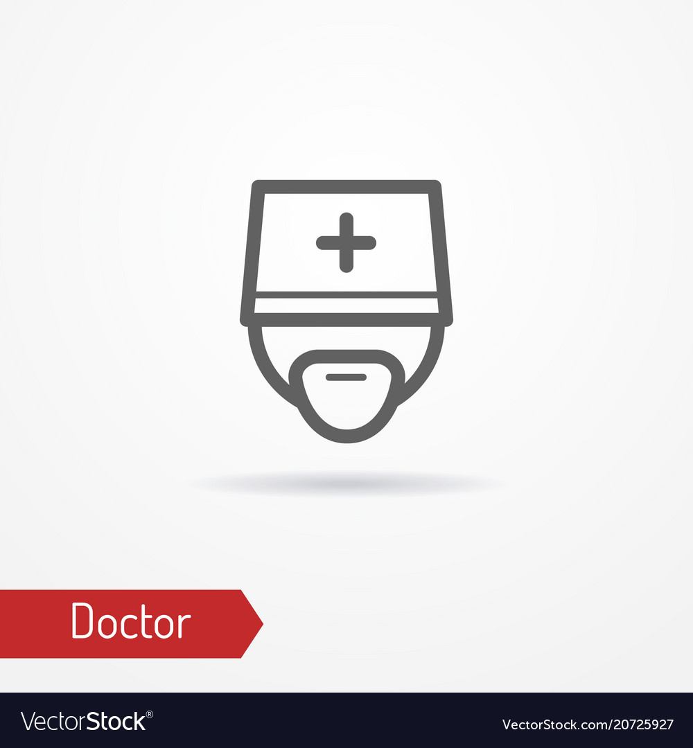 Doctor face icon