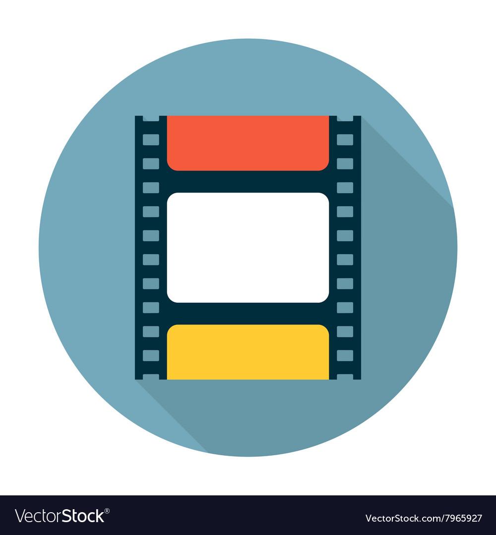 Film strip flat icon