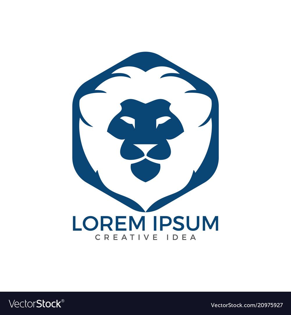 Lion logo template design