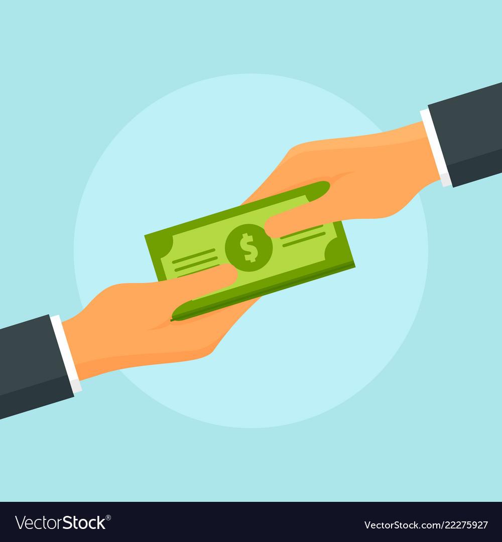 Money exchange concept background flat style