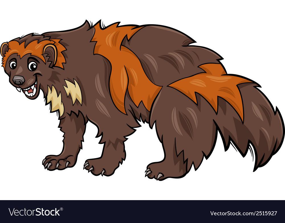 Wolverine animal cartoon vector image