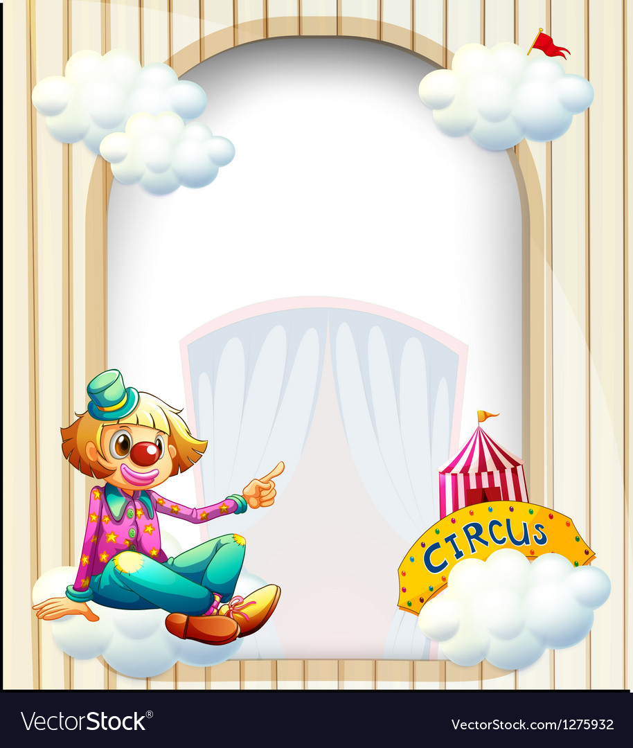 an empty entrance like template with a clown vector image