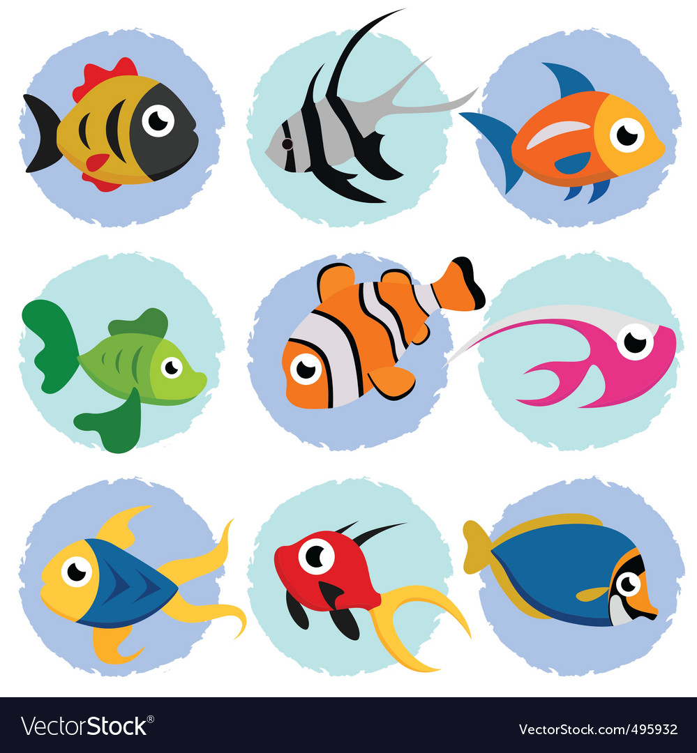 cartoon fish royalty free vector image vectorstock rh vectorstock com images cartoon goldfish cartoon fish images to draw