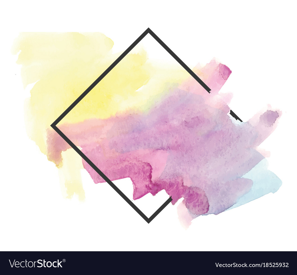 Colorful watercolor background Royalty Free Vector Image