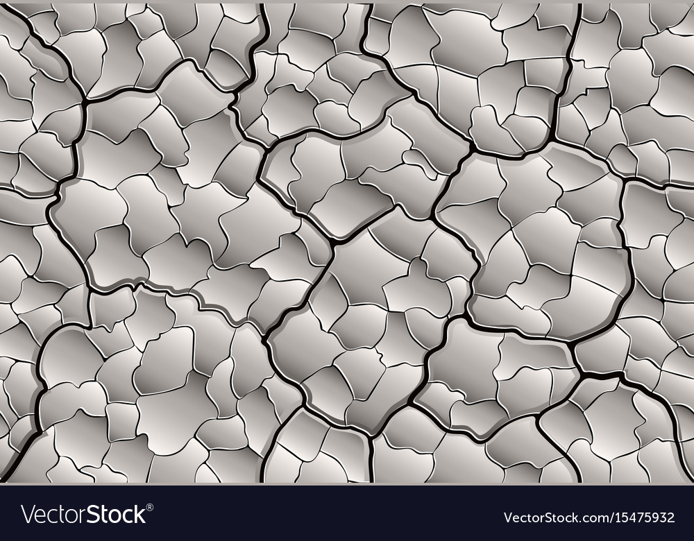 Dry cracked mud with layered depth cracks