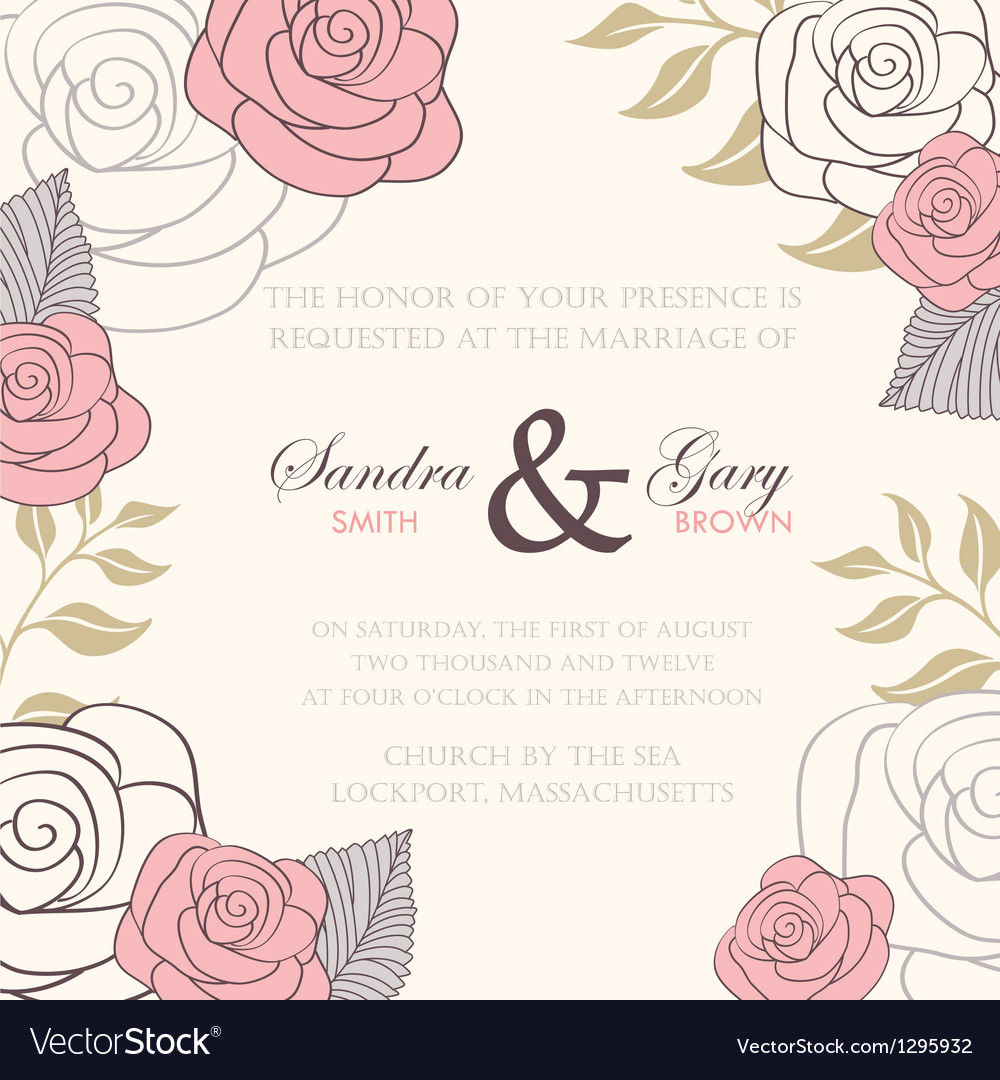 Invitation wedding card royalty free vector image invitation wedding card vector image stopboris Images