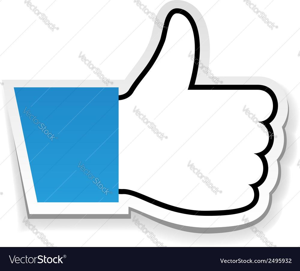 Like us thumb up