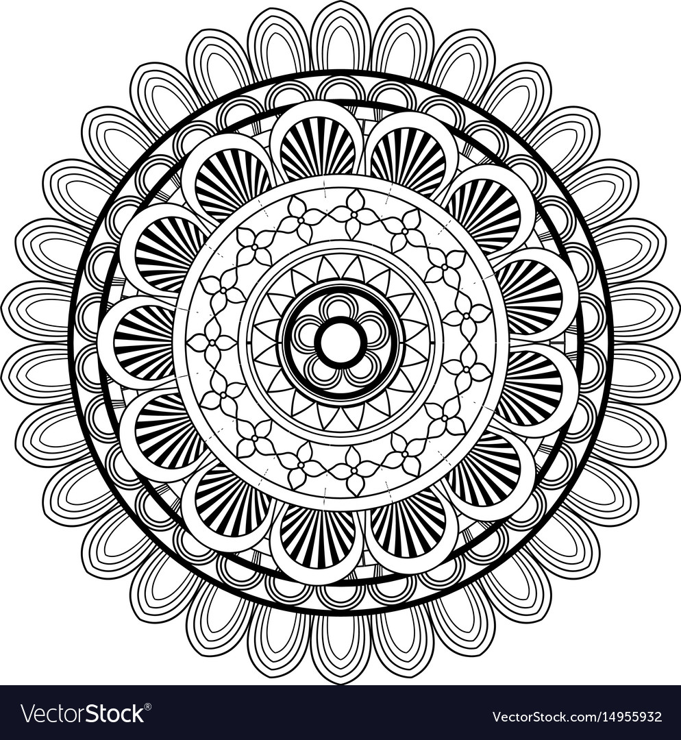 Mandala vintage decoration geometric pattern