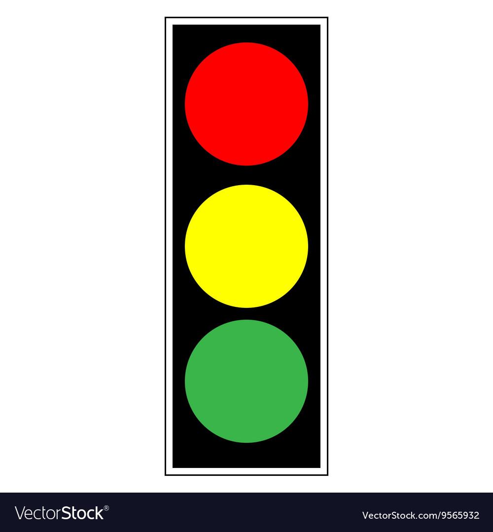 Traffic light Sign vector image