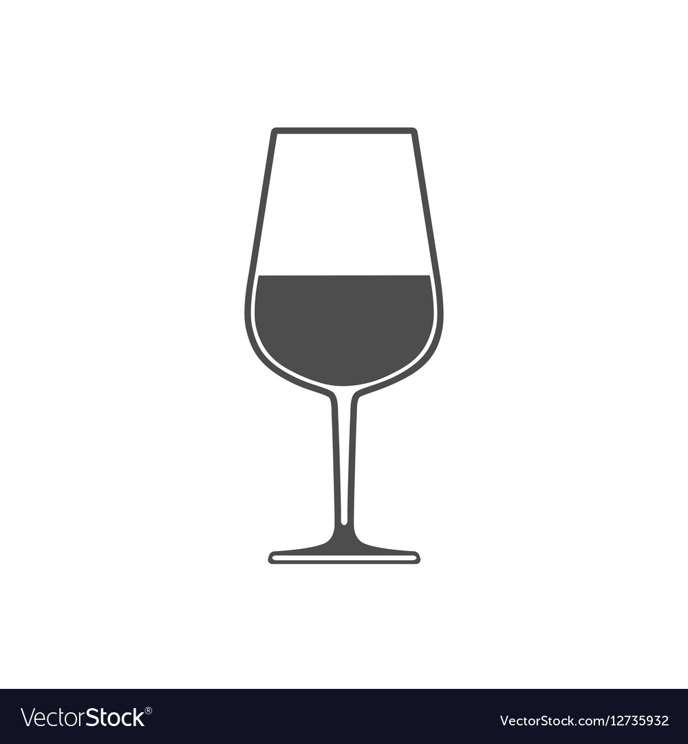Wineglass with wine sign symbol icon