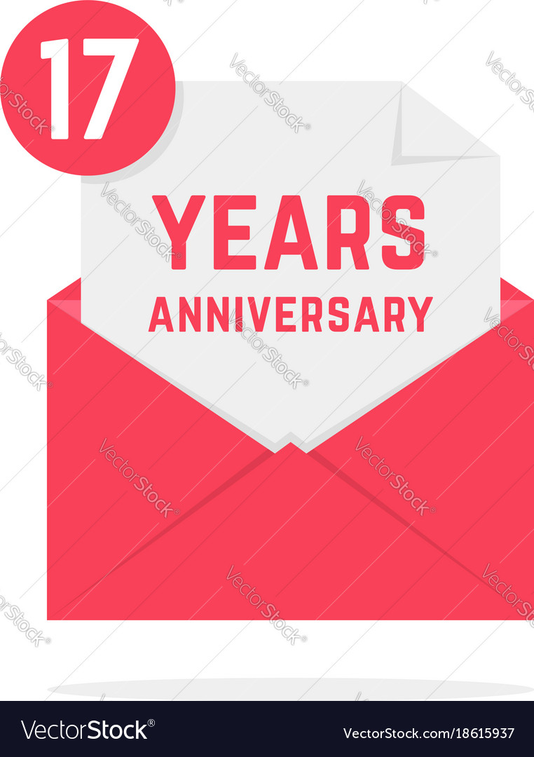 17 years anniversary icon in open letter