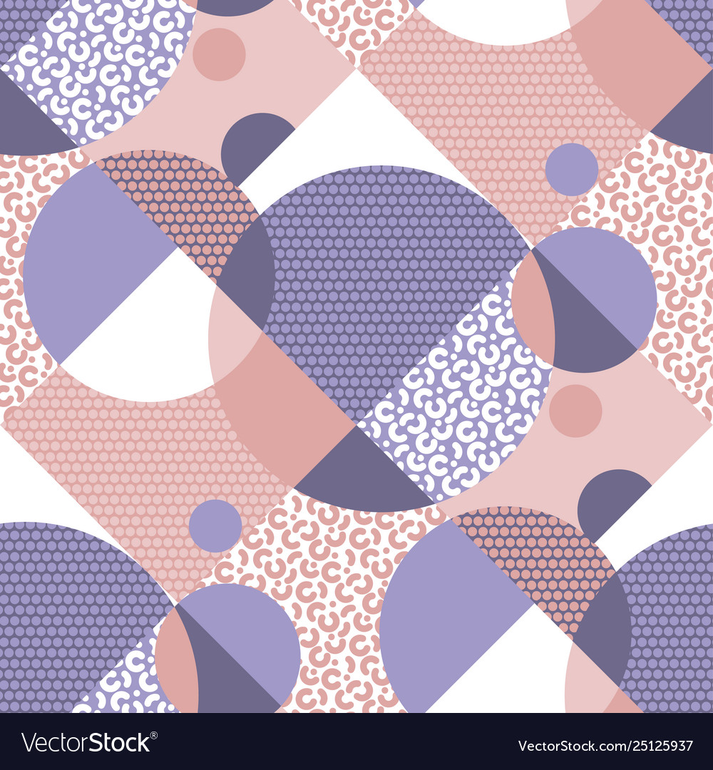 Abstract geometric 90s vibes seamless pattern