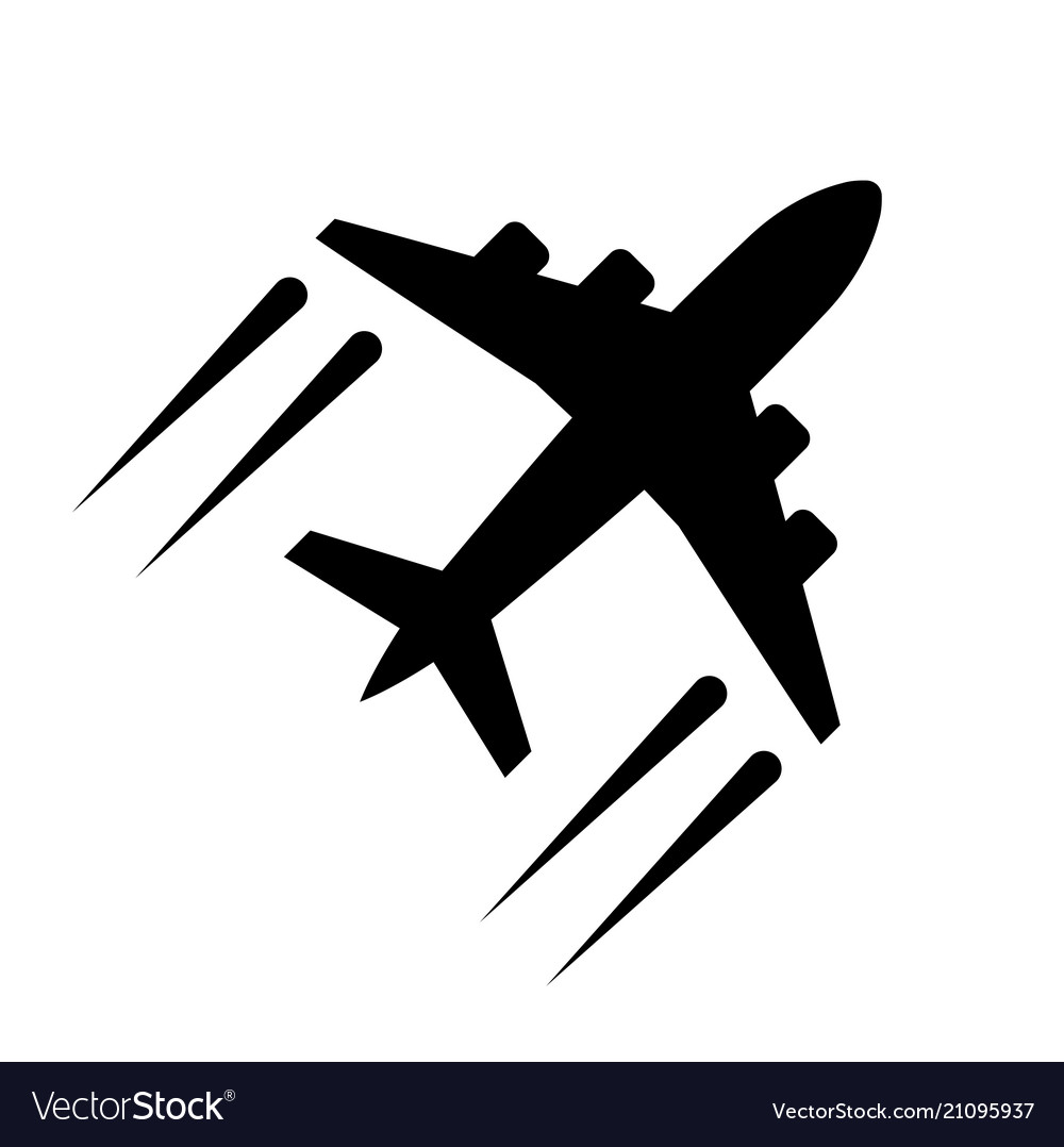 Airplane icon in flat style plane symbol