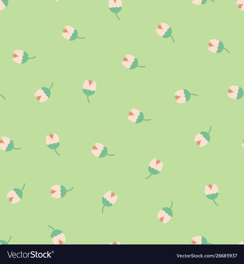 Folk flowers seamless repeating background