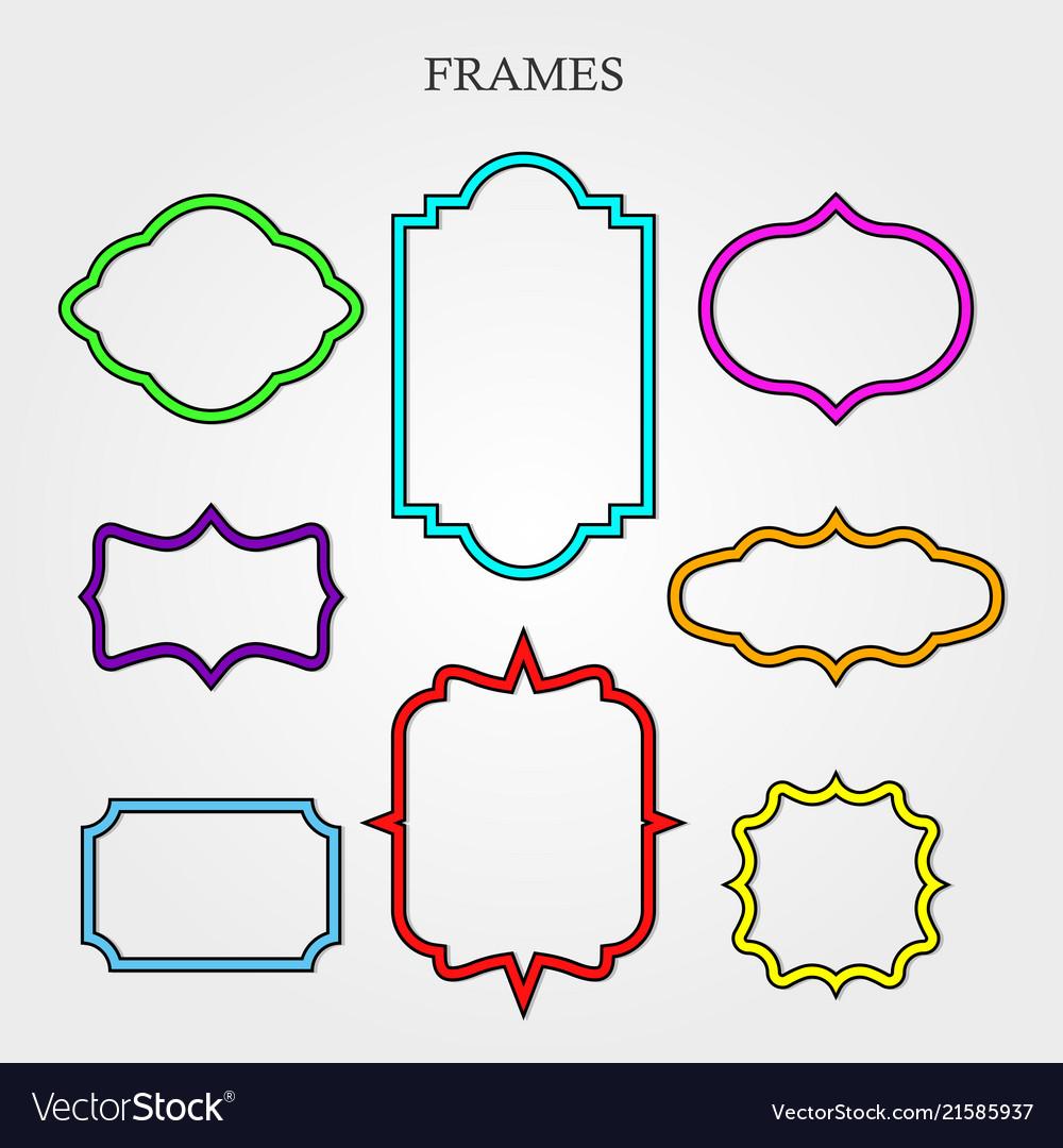 Frame retro decoration element pattern ornate