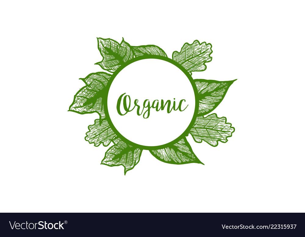 Organic badge logo designs inspiration isolated
