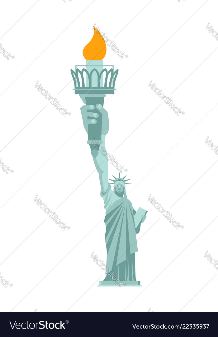 Statue of liberty is large hand torch united