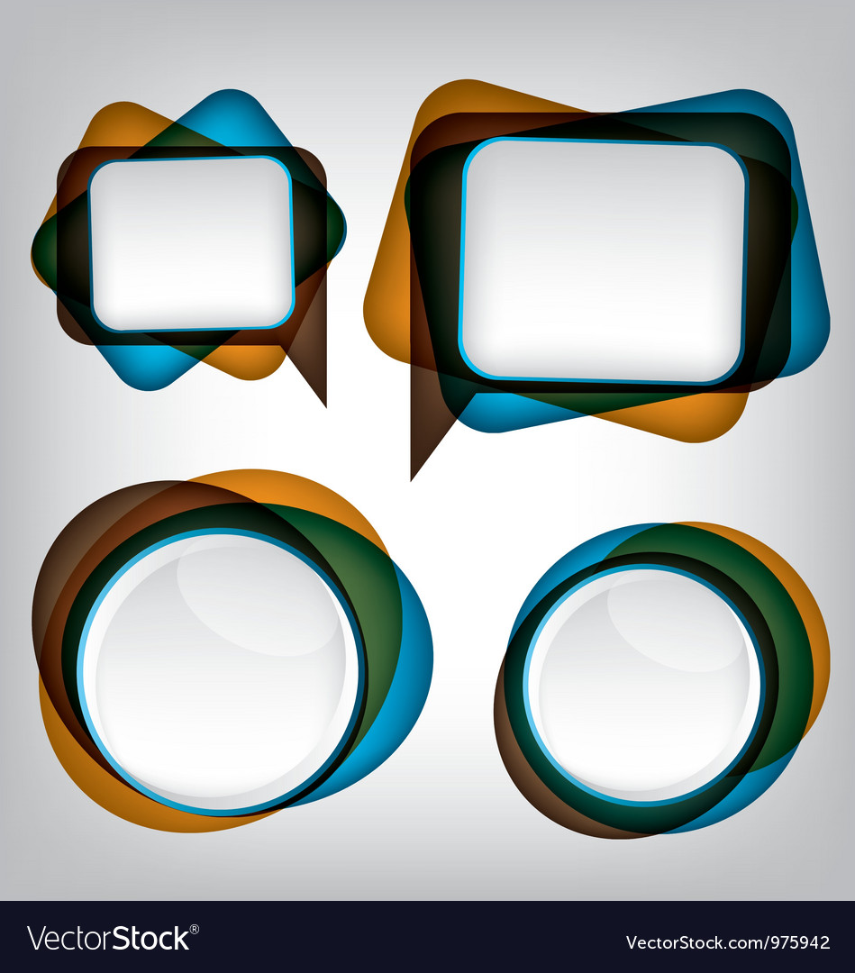 Abstract bubble speech background