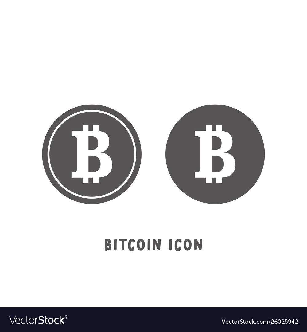 Bitcoin cryptocurrency icon simple flat style