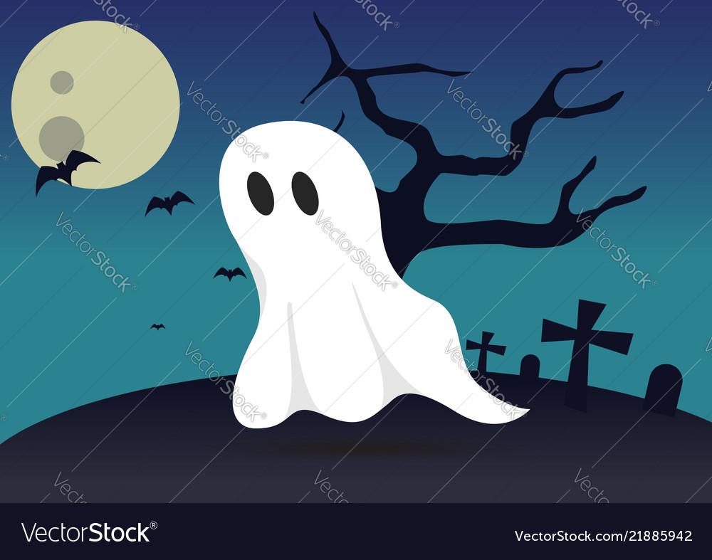 Boo ghost halloween background