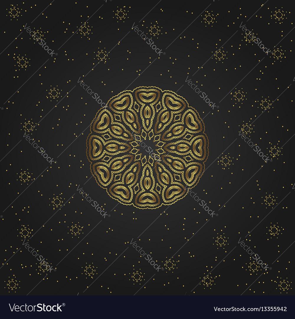 Golden circular shape creative eastern symbol