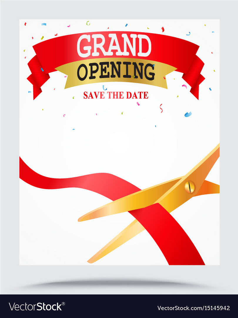 grand opening background royalty free vector image
