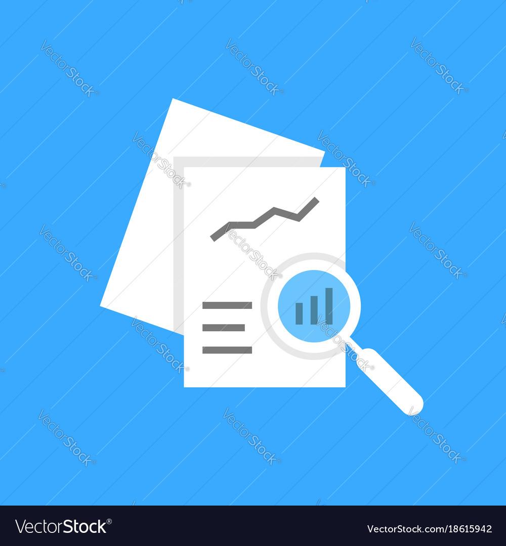 White document auditing like assessment vector image